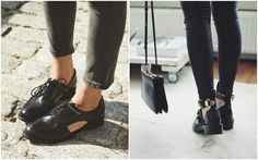 Cut out shoes, Balenciaga, moda zapatos con aberturas, booties fall, oxford shoes, trendy girls, zapatos otoño www.PiensaenChic.com