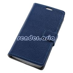 Genuine Leather Stand Protective Case for Sony Xperia E3