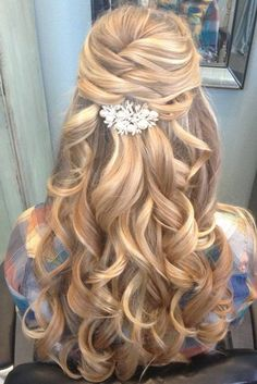 Prom Hairstyles For Long Hair Impressive Half Up Half Down Curly Prom Hairstyles For Long Hair  Curly