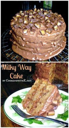 Cooking with K - Southern Kitchen Happenings: Milky Way Cake Each of our barred-spiral, shining, Desserts To Make, Köstliche Desserts, Delicious Desserts, Food Cakes, Cupcake Cakes, Baby Cakes, Mini Cakes, Cake Cookies, Cupcakes