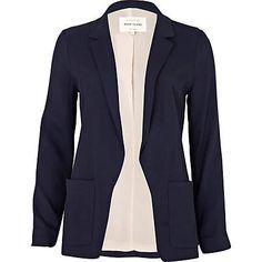 navy pocket blazer - blazers - coats / jackets - women - River Island