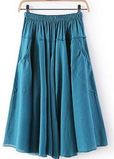New Arrival A Line Skirts with Pockets Green