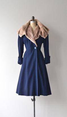 Blairhame coat 1940s fur collar coat vintage 1940 by DearGolden