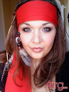 would be fun for the girls to make their own pirate head scarves