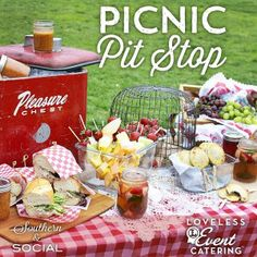 Great tips for packing lunch on-the-go ~ Picnic Pit Stop from the Loveless Cafe (My idea of a picnic)