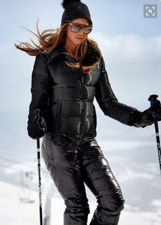 Ski Fashion, Sport Fashion, Winter Fashion, Winter Suit, Winter Wear, Nylons, Style Sportif, Down Suit, Alpine Style