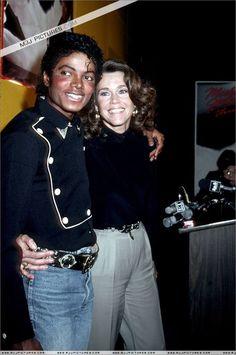 Michael Jackson with Jane Fonda