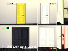 Kriss Scania Door Recolor Set by k-omu at TSR • Sims 4 Updates