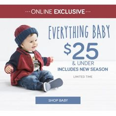 Everything Baby $25 and under @ Pumpkin Patch - Bargain Bro