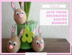 DIY: Velikonoční zajíčci z jutové příze