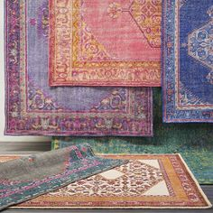 Beautiful, vibrant hand-knotted rugs from Surya's Zahra collection!
