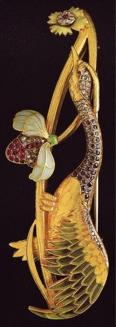 Art Nouveau - Broche - Lluis Masriera