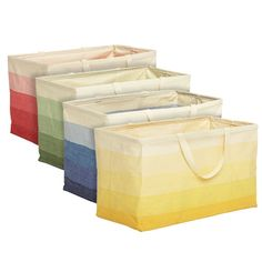 The Container Store; Horizon Rectangular Crunch Can; $20; i think these should be my new laundry hampers, beach bags, and closet storage