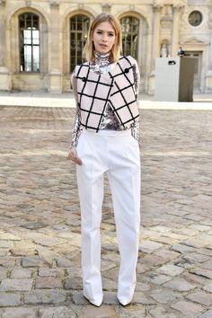 Elena Perminova attends the Christian Dior Fall 2015 show