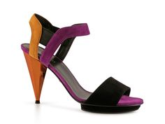 Gucci womens Multi-Color suede leather heels sandals - Italian Boutique €416