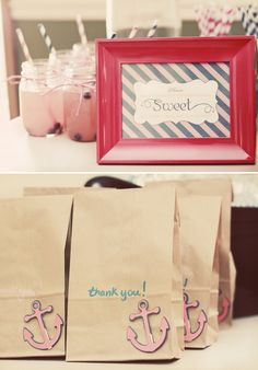 Sweet Sailor Nautical First Birthday // Hostess with the Mostess®