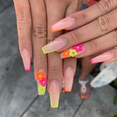 Nails - more awesome takes on nail examples. These totally useful post produced on this imaginative day 20191207 Nails - more awesome takes on nail examples. These totally useful post produced on this imaginative day 20191207 Summer Acrylic Nails, Best Acrylic Nails, Acrylic Nail Designs, Nail Art Designs, Colorful Nail Designs, Aycrlic Nails, Neon Nails, Yellow Nails, Nail Swag