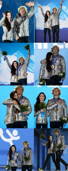 Meryl Davis & Charlie White win the first Olympic Gold Medal for the U.S in figure skating ice dance - February 18, 2014