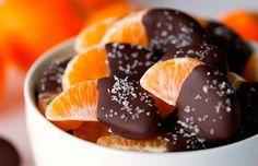 Receita fácil e diferente de docinho de tangerina e chocolate