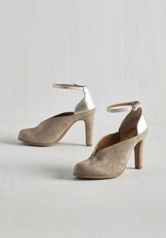 Flute Heel in Khaki. Get your trills by taking these clay-colored heels out for work or play! #brown #modcloth