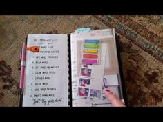 Robyn's Little Nest - Updated 2015 Travelers Notebook Planner Setup - YouTube