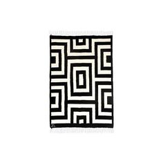 NOVICA 3x4 Peruvian Wool Area Rug in Black and Antique White (540 AED) ❤ liked on Polyvore featuring home, rugs, area rugs, black and white, clothing & accessories, black white area rug, ivory rug, wool area rugs, black rug and hand woven wool rugs