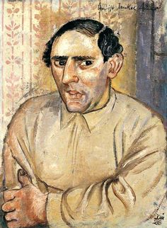 """Painting by Otto Dix (1891-1969), 1926, """"This is Jankel Adler"""" (1895-1949). He was a Polish painter and engraver of the Jewish faith."""