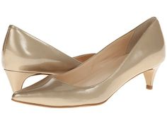 Cole Haan Air Juliana Pump 45 Soft Gold Metallic Patent - 6pm.com