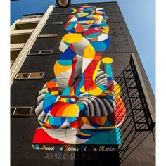 another view from our last big piece...La Danse De Venus Et Du Marin by @remed_art & #okuda #okudart / @mausmalaga @cacmalaga @sohomlg Malaga. Spain 2015  by okudart
