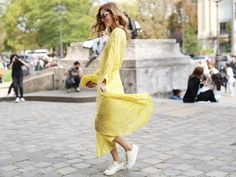 Thought You Couldn't Pull Off a Dress With Sneakers? Think Again: If you spent your childhood in a pair of Converse or even Nike Air Force 1s, you are no stranger to the idea that sneakers can be more than just handy – they can make a style statement.
