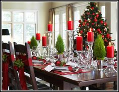 Berry & Boxwood - Decor in Warm Seasonal Hues - So beautiful! Can't wait to have a dining room that looks like that!