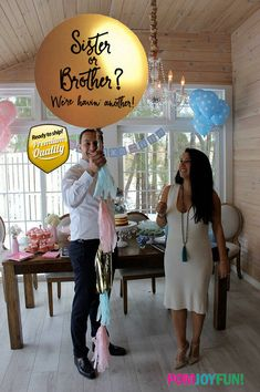 Sibling Gender Reveal by Pomjoyfun2.com. Sister or brother announcement, Sibling announcement.