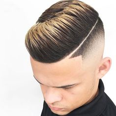Comb Over Fade with Line Up