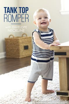DIY: Tank Top Romper with Envelope Neckline (...from an old Tshirt)   via Make It and Love It