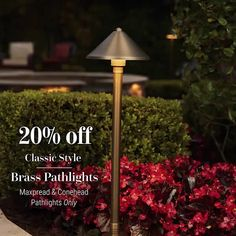 Now through Sunday March 1st! ⁠ SAVE 20% ON SELECT PATH LIGHTS ⁠ Use coupon code PATH2020  ⁠ #lighting #landscapedesign #homedecor #lightingdesign #outdoorliving #ledlighting #outdoorlighting #lightingideas Pathway Lighting, Path Lights, Outdoor Lighting, March 1st, Cool Landscapes, Pathways, Lighting Design, Light Up