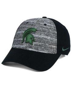 Michael Jordan Snapback Hats · Nike Michigan State Spartans H86 Heathered  Cap - Black Adjustable Branded Caps 6d7cf46baf3