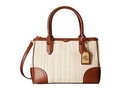 Lauren By Ralph Lauren Newbury Straw Double Zip Shopper Handbag Natural/tan
