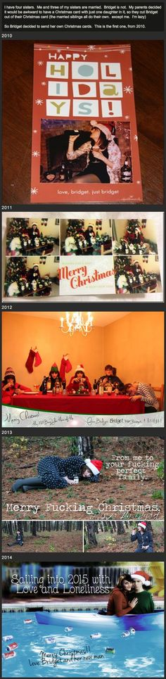 Funny Christmas card for single girls Stealing Christmas with the ...