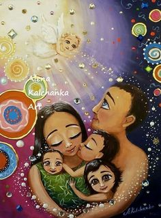 Stone Painting, Painting & Drawing, Love Cartoon Couple, Family Drawing, Goddess Art, Indian Paintings, Mothers Love, Cartoon Art, Painted Rocks