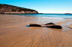 Sand Beach Acadia National Park Maine fine art photography, 8x10 photograph, Glenn Gordon photos via Etsy