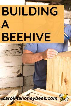 Bee Hives Boxes, Bee Boxes, Honey Bee Hives, Honey Bees, Backyard Beekeeping, Beekeeping Course, Chicken Tractors, Farm Chicken, Building A Beehive