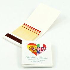 """Cajas de cerillas para bodas modelo """"Book 2x9"""". Boda de Barbara y Thomas. Cards, Model, Match Boxes, Weddings, Maps, Playing Cards"""