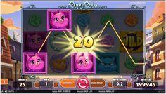 Copy Cats er en spillmaskinen med 5 hjul, 3 rader og 25 linjer (fast). Den har Free Spins, Bonus-symboler, Wildsymboler, Stacked-symboler, Stacked Wilds og en Copy Cats-funksjon. #jackpot #spillgratis #spillautomattergratis Copycat, Games, Gaming, Plays, Game, Toys
