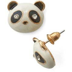 Quirky Bamboo Brunching Earrings by ModCloth ($9.99) ❤ liked on Polyvore featuring jewelry, earrings, accessories, brincos, jewels, bamboo earrings, earrings jewelry, panda earrings, gold stud earrings and bamboo jewelry