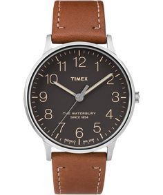 The Waterbury by Timex Year-round daily driver watch.  Color: brown/stainless steel. Should link to same color scheme as the picture.