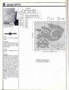 Decorative Crochet Magazines n° 31 - tristanime - Picasa Web Albümleri Filet Crochet Charts, Crochet Stitches, Crochet Diagram, Crochet Curtains, Crochet Doilies, Crochet Hook Sizes, Crochet Hooks, Chat Crochet, Crochet Cats