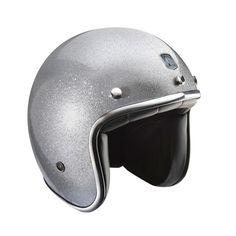 Motorcycle helmets | Custom Open Face Helmet | Glitter Grey | Available online @ www.motofemmes.com.au