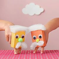 Finger Puppets out of paper ring boxes...Iove the mustachios