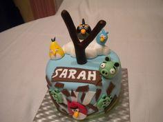 Tarta Angry Birds para Sarah