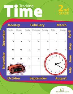 Tracking Time | Printable Workbook | Education.com